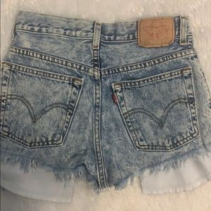 Destroyed high waisted Levi's shorts